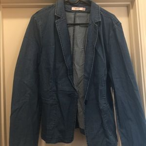JustFab denim blazer size2xl